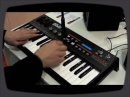 Overview of the new Akai Miniak Synth, at Franckfurt MusikMesse 2009.
