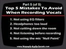 Part 4+5 of 5 tips for recording better vocals in your home studio and anything recorded with a microphone.