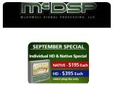 Industry : McDSP September Special - pcmusic