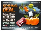 Music Software : IUseMac Spring Deal: 50% OFF Coupon for Notepad for Mac - pcmusic