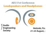 Event : 51st International AES Conference to Focus on Loudspeakers and Headphones - pcmusic