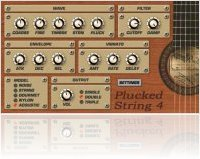 Virtual Instrument : Plucked String 4.0 Physical Modeling Plugin (VSTi, OS X) - macmusic