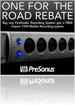 Computer Hardware : PreSonus 'One for the Road Rebate' - macmusic