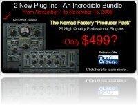 Industrie : 26 Plug-ins Nomad Factory à $499 ! - macmusic