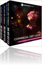Instrument Virtuel : Producerloops Présente Commercial Dirty South Bundle (Vols 1- 3) - macmusic