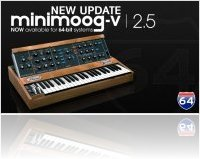 Instrument Virtuel : Arturia Annonce Minimoog V Version 2.5 - macmusic