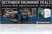 Instrument Virtuel : Toontrack December Drum Deals! - macmusic