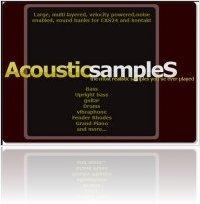 Instrument Virtuel : Promos de Noël chez AcousticsampleS - macmusic