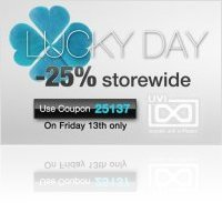 Event : UVI Lucky Day deal : 25% off storewide - macmusic