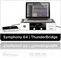 Informatique & Interfaces : Apogee Annonce Symphony 64 | ThunderBridge - macmusic