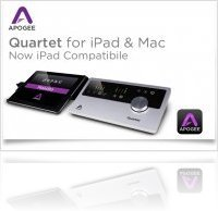 Computer Hardware : Apogee Quartet for iPad & iPhone Now Available - macmusic