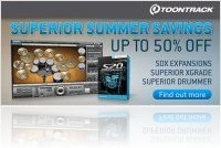 Misc : Toontrack launch Superior Summer Savings - macmusic