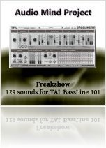 Virtual Instrument : New sounds for TAL-BassLine 101 by Audio Mind Project - macmusic